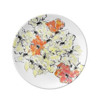 Plato De Porcelana Verano en Wildflowers de la caída