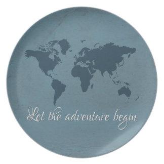 Plato Deje la aventura comenzar