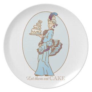 Plato Déjelos comer la torta
