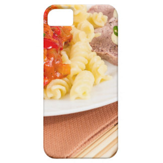 Plato del almuerzo de las pastas italianas, salsa funda para iPhone SE/5/5s