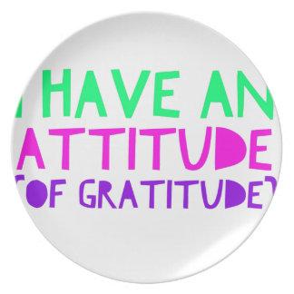 Plato Detox AA de la recuperación de la gratitud de la