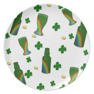 Plato Día del St. Patricks