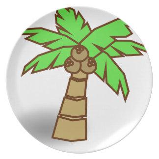 Plato Dibujo de la palmera