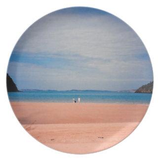 Plato Dicha delantera de la playa
