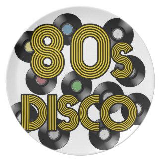 Plato discos de vinilo del disco 80s