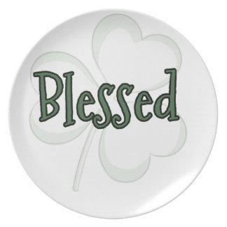 Plato Diseño del día de St Patrick bendecido