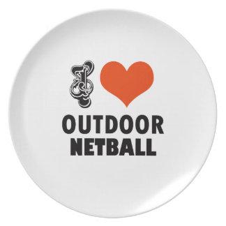 Plato Diseño del Netball
