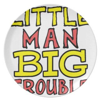 Plato Diseño grande del niño del problema del pequeño