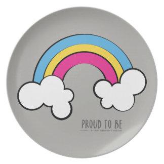 Plato Diseño Pansexual el | del arco iris del |