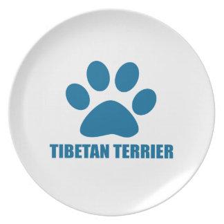 PLATO DISEÑOS DEL PERRO DE TERRIER TIBETANO