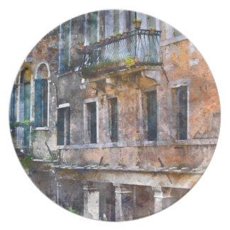 Plato Edificios históricos de Venecia Italia