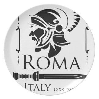 Plato Ejército romano - legionario con Gladio