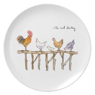 Plato El anadón, los pollos y el anadón perdidos