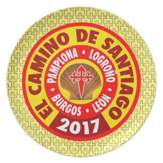 Plato EL Camino de Santiago 2017
