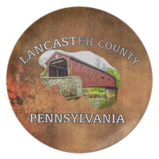 Plato El condado de Lancaster -- placa del recuerdo