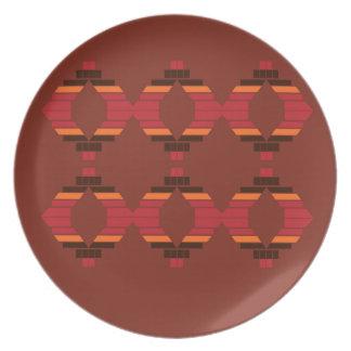 Plato El diseño bloquea el chocolate étnico