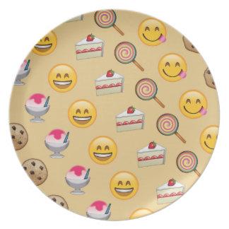 Plato El dulce trata Emojis
