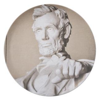 Plato El Lincoln memorial en Washington DC