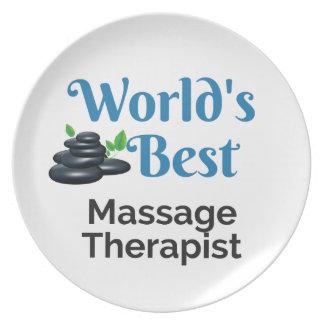 Plato El mejor terapeuta del masaje del mundo