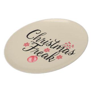 Plato El navidad Freak tipografía