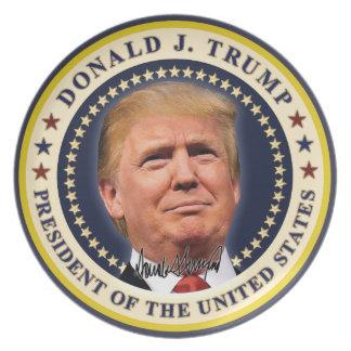 Plato El oro de la inauguración de Donald Trump
