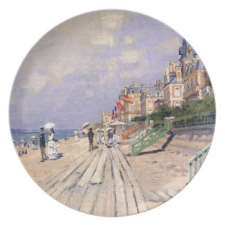 Plato El paseo marítimo en Trouville Claude Monet