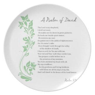 Plato El salmo de David el señor es mi verso de la