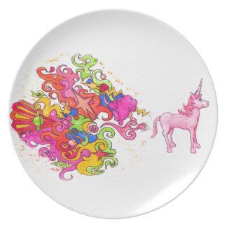 Plato El unicornio Fart