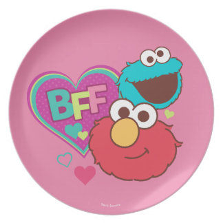 Plato Elmo y monstruo de la galleta - BFF