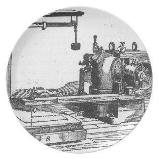 Plato Ephemeras antiguas del vintage de la herramienta