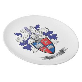 Plato Escudo de armas del escudo de la familia de McLeod