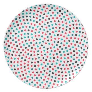 Plato Espiral del girasol de Fibonacci - melón