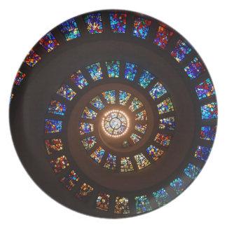 Plato Espiral del vitral