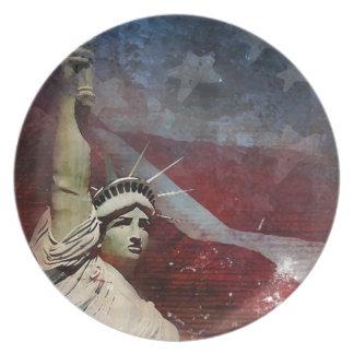 Plato Estatua de la placa de cena de encargo de la liber