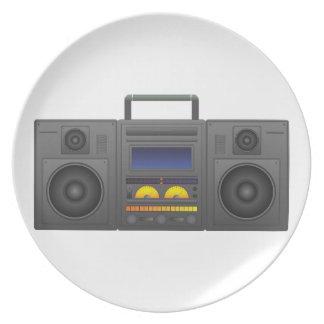 Plato estilo Boombox de Hip Hop de los años 80