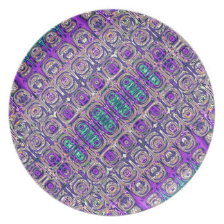 Plato Extracto colorido de las cuentas de cristal