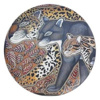 Plato Felinos de Costa Rica - Big cats plate