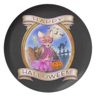 Plato Feliz Halloween - Frieda ata la placa cobrable