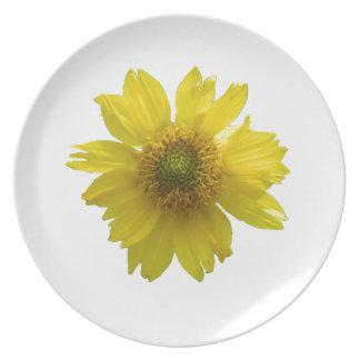 Plato Flor amarilla