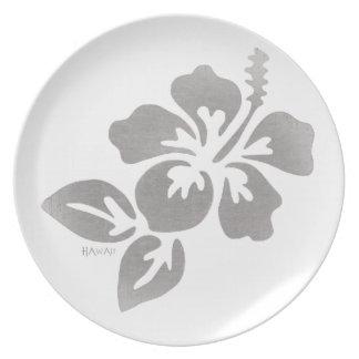 Plato Flor de Hawaii