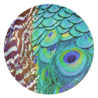 Plato Flujo pacífico del Peafowl