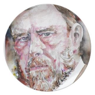 Plato FOGONERO de BRAM - retrato de la acuarela