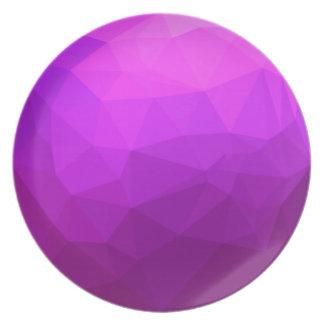 Plato Fondo bajo abstracto púrpura bizantino del