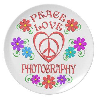 Plato Fotografía del amor de la paz