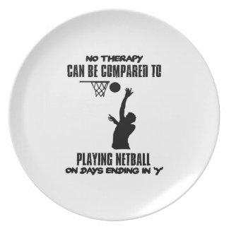 Plato fresco y tendiendo DISEÑOS del netball