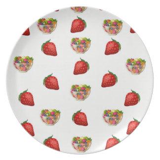 Plato Fruta de la placa de la melamina