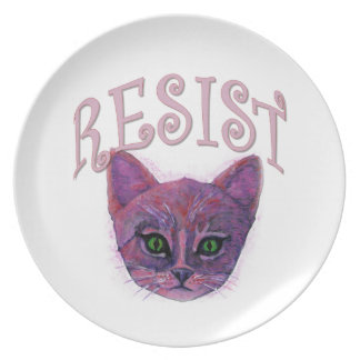 Plato Gatito de la resistencia