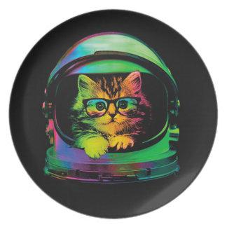 Plato Gato del inconformista - astronauta del gato -