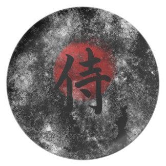 Plato Grunge 2 del samurai del kanji