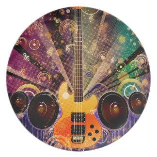 Plato Guitarra del Grunge con los altavoces 2